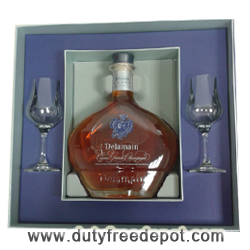Delamain Extra Cognac (700 ml) + 2 Glasses With Gift Box