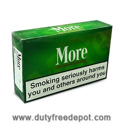 More International 120s Menthol Cigarette