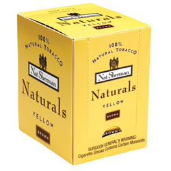 100 Nat Sherman Naturals Yellow (Brown) Cigarettes (1X100)