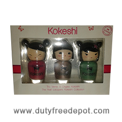 Kokeshi Collection Of 3 Nail Lacquers - Pink, Bronze & Green (3x5 ml)