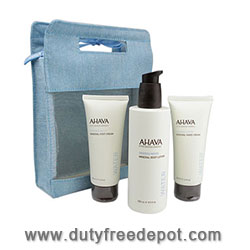 Ahava Foot Cream + Hand Cream + Body Lotion Kit (2X100ml+85ml+3ml)