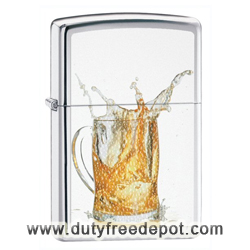 Zippo 28293 Classic High Polish Chrome Splashing Beer Mug Windproof Pocket Lighter