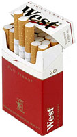 6 Cartons of West Red King Size Cigarettes