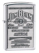 Zippo Jim Beam Chrome lighter (model: 250JB)