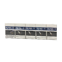 20 Cartons of Pall Mall Blue Smooth Taste Cigarettes