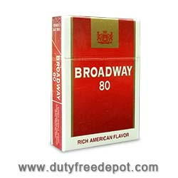 20 Cartons Of Broadway 80 Cigarettes