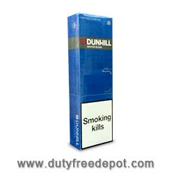 10 Cartons of Dunhill King Size masterblend Blue Cigarette. White Filter.