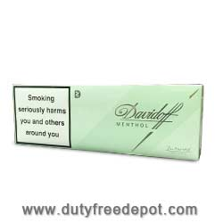 10 Cartons Of Davidoff Menthol King Size Cigarettes