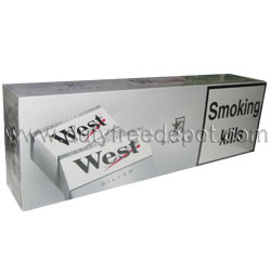 10 Cartons of West Silver/Light Cigarettes