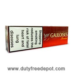 10 Cartons of Gauloises Blondes Red Cigarettes