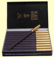 10 Cartons of  100 Cigarettes Nat Sherman Black & Gold