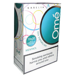 6 Cartons Of Karelia`s Omé Menthol Superslims Cigarettes (200x6)