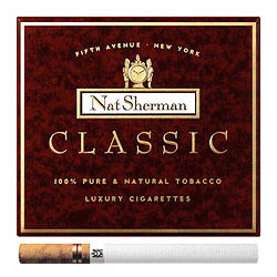 6 Cartons of 100 Cigarettes Nat Sherman Classic
