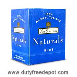 100 Cigarettes Nat Sherman Naturals Blue Cigarettes (1X100)