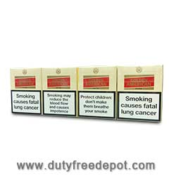 Golden American Red King Size Cigarette (8 Box of 25 Cigarettes)
