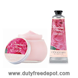 L'Occitane Peony Flora Beauty Cream + Hand Cream (100ML+30ML+10ML)