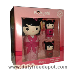Kokeshi Cherry Set of 2 Nail Lacquers + 1 Eau De Toilette For Girls (50 ml./1.7 oz.)
