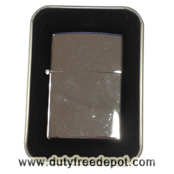 Zippo style lighter with chrome coating and gas refill