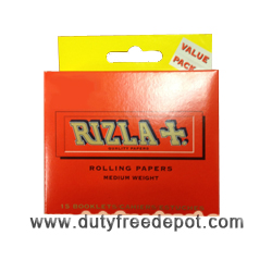 Rizla Rolling Papers (70 mm) Medium Weight Red (15 Booklets/Cahiers/Estuches)