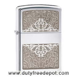 Zippo 28467 Filigre Split Pocket Lighter  High Polish Chrome