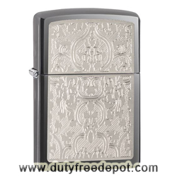 Zippo 28469 Oriental Abstract Engraved Pocket Lighter Black Ice
