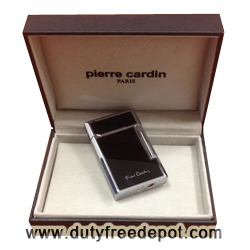 Pierre Cardin Full Cap Flint Lighter  (Black)