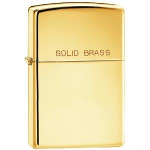 Zippo Solid Brass Engraved (model: 254)