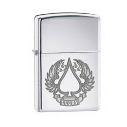 Zippo Lucky Wings High Polish Chrome Lighter (model: 24704)