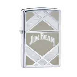 Zippo Jim Beam Polished Chrome Lighter (model: 24550)