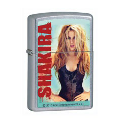 Zippo Shakira Pop Art Street Chrome Lighter (model: 28029)