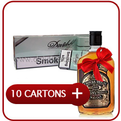 10 Cartons Of Davidoff Menthol King Size Cigarette+ Chivas Regal 12 Y.O. Whisky  50CL