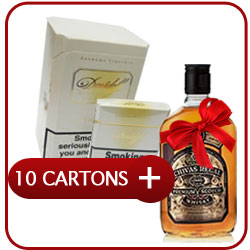 10 Cartons of Davidoff Magnum Gold + Chivas Regal 12 Y.O. Whiskey 500 ml