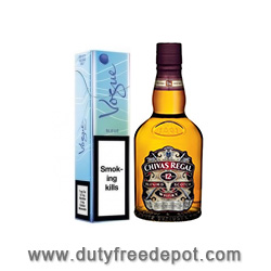 6 Cartons of Vogue Blue Super Slim+Chivas Regal Whisky 50CL