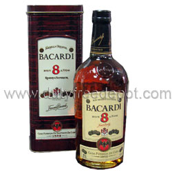 Bacardi 8 Years Old Rum  40% (1L)